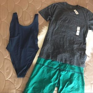 Swim Shorts &  V neck Tee NWT